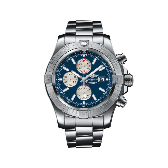 Breitling Super Avenger II Chronograph Men's 48mm Stainless Steel Watch - Blue Dial, , default