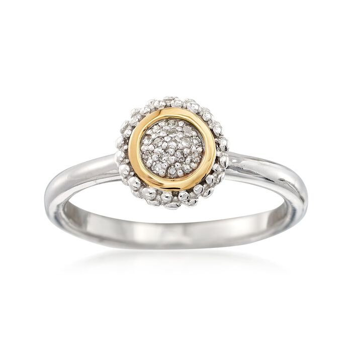 """Phillip Gavriel """"Popcorn"""" Diamond-Accented Ring in Sterling Silver and 18kt Gold, , default"""