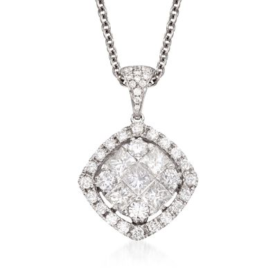 Gregg Ruth 1.44 ct. t.w. Diamond Pendant Necklace in 18kt White Gold