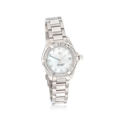 TAG Heuer Aquaracer Women's 32mm .62 ct. t.w. Diamond Watch in Stainless Steel