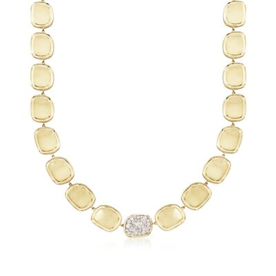Roberto Coin .86 ct. t.w. Diamond Necklace in 18kt Yellow Gold, , default