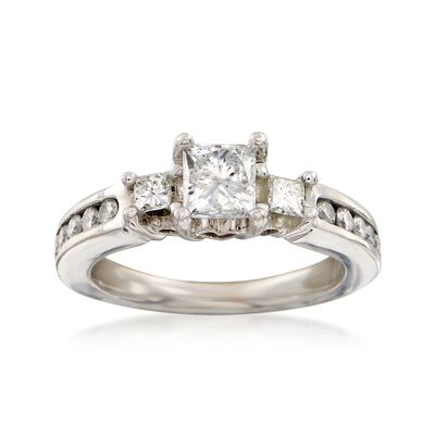 C. 1990 Vintage .95 ct. t.w. Diamond Ring in 14kt White Gold, , default