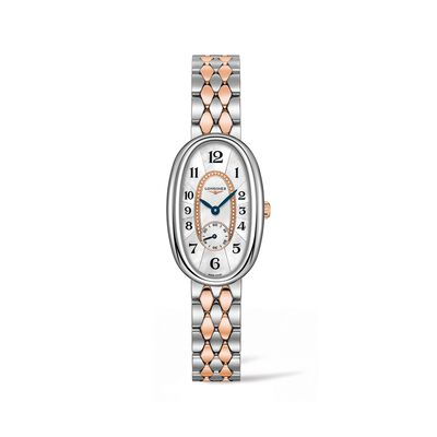 Longines Symphonette Women's 22x34mm Stainless Steel and 18kt Rose Gold Watch