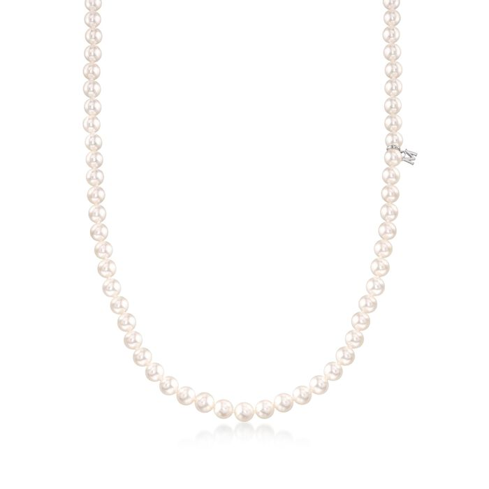 Mikimoto 6-6.5mm 'A' Akoya Pearl Necklace in 18-Karat White Gold. 180, , default