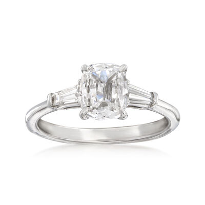 Henri Daussi 1.23 ct. t.w. Certified Diamond Engagement Ring in 18kt White Gold