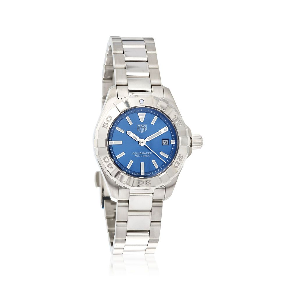 e76e178adc8 TAG Heuer Aquaracer 27mm Women s Stainless Steel Watch - Blue Dial ...