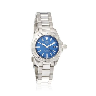 TAG Heuer Aquaracer Women's 27mm Stainless Steel Watch with Blue Dial, , default
