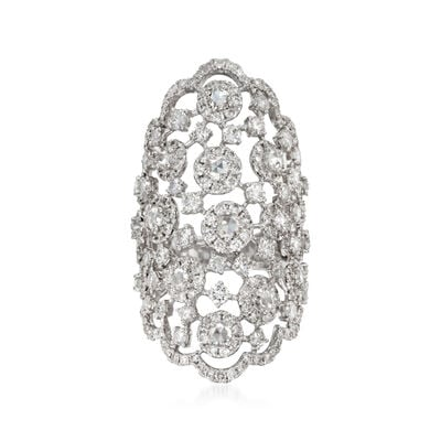 5.10 ct. t.w. Diamond Tiara Ring in 18kt White Gold, , default