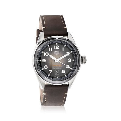 TAG Heuer Autavia Men's 42mm Stainless Steel Watch with Leather Strap