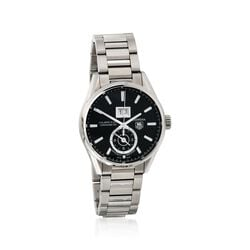 TAG Heuer Carrera Gmt Men's 41mm Stainless Steel Watch - Black Dial, , default