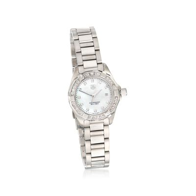 TAG Heuer Aquaracer Women's 27mm .44 ct. t.w. Diamond Watch in Stainless Steel, , default