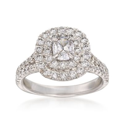Henri Daussi 1.52 ct. t.w. Diamond Engagement Ring in 18kt White Gold, , default