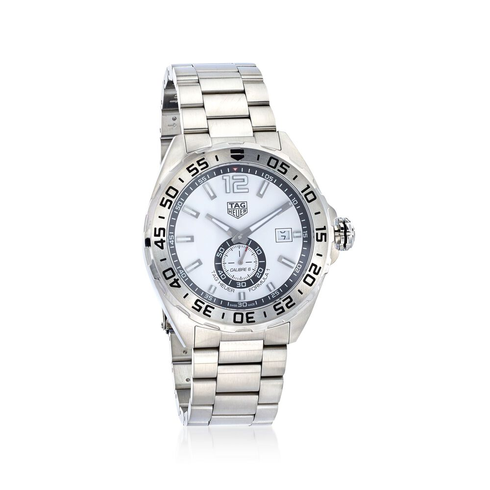 Tag Heuer Formula 1 43mm Men S Automatic Stainless Steel Watch White Dial