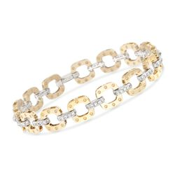 "Roberto Coin ""Pois Moi"" 1.70 ct. t.w. Diamond Link Bracelet in 18kt Two-Tone Gold, , default"