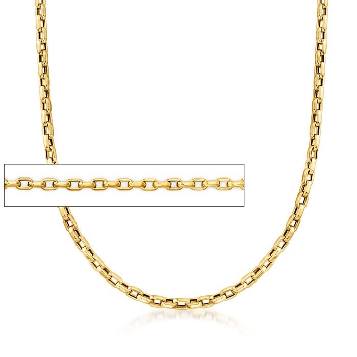 Roberto Coin 18kt Yellow Gold Gauge Square-Link Necklace
