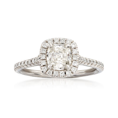Henri Daussi 1.19 ct. t.w. Diamond Engagement Ring in 18kt White Gold, , default
