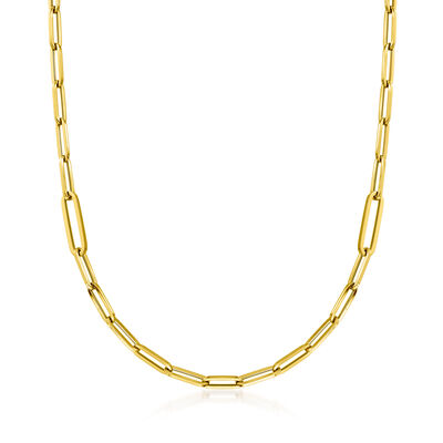 Roberto Coin 18kt Yellow Gold Thick Paper Clip Link Necklace