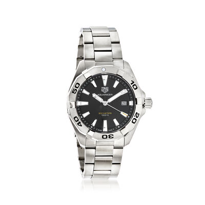 TAG Heuer Aquaracer Men's 41mm Stainless Steel Watch - Black Dial