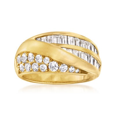 C. 1980 Vintage 2.00 ct. t.w. Diamond Ring in 18kt Yellow Gold
