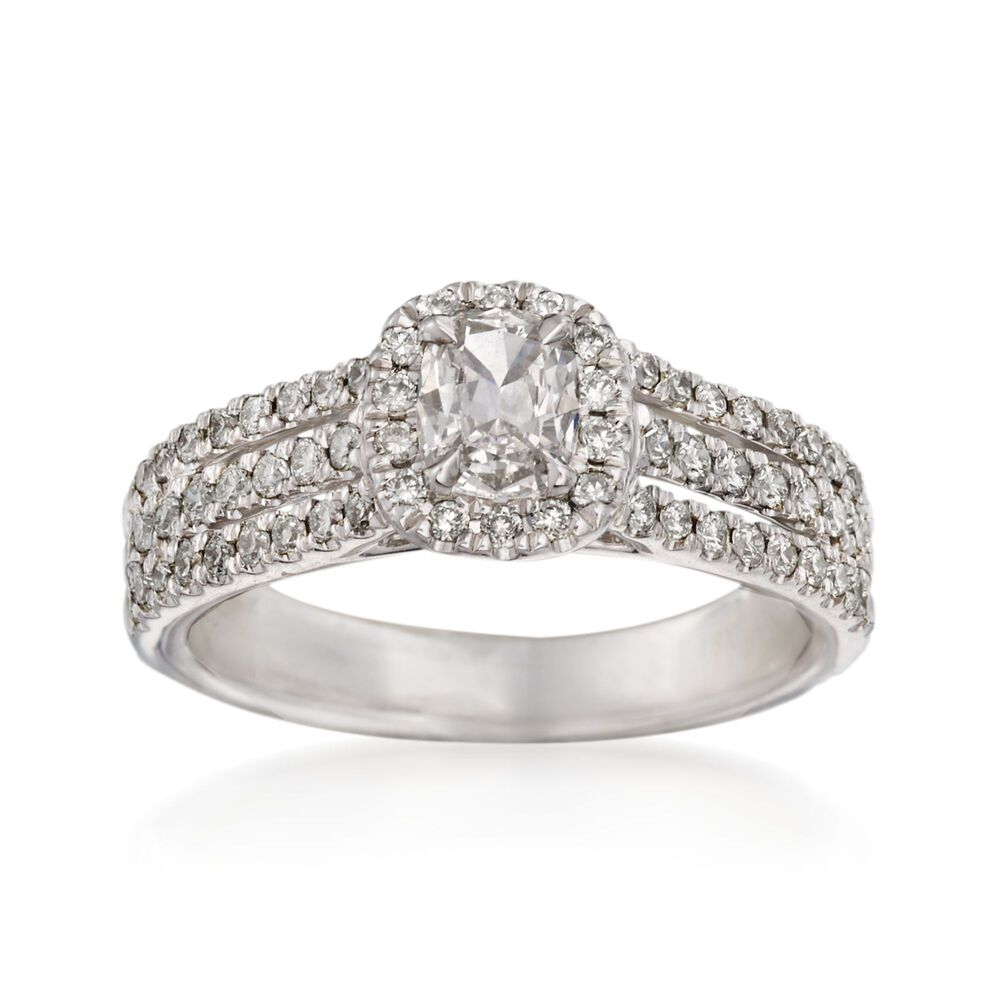 52cc47f6d Henri Daussi .89 ct. t.w. Diamond Engagement Ring in 18kt White Gold ...
