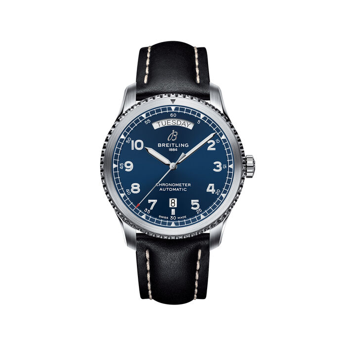 Breitling Navitimer 8 Men's 41mm Day-Date Stainless Steel Watch - Blue Dial, , default
