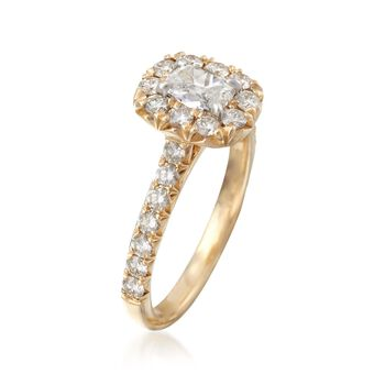 Henri Daussi 1.14 Carat Total Weight Diamond Ring in 14-Karat Yellow Gold. Size 6.5, , default