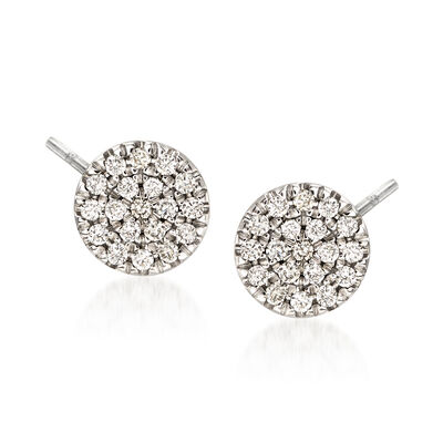Gabriel Designs .11 ct. t.w. Diamond Round Stud Earrings in 14kt White Gold
