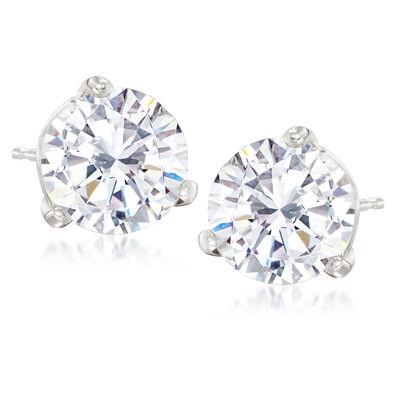 5.03 ct. t.w. Diamond Stud Earrings in 14kt White Gold