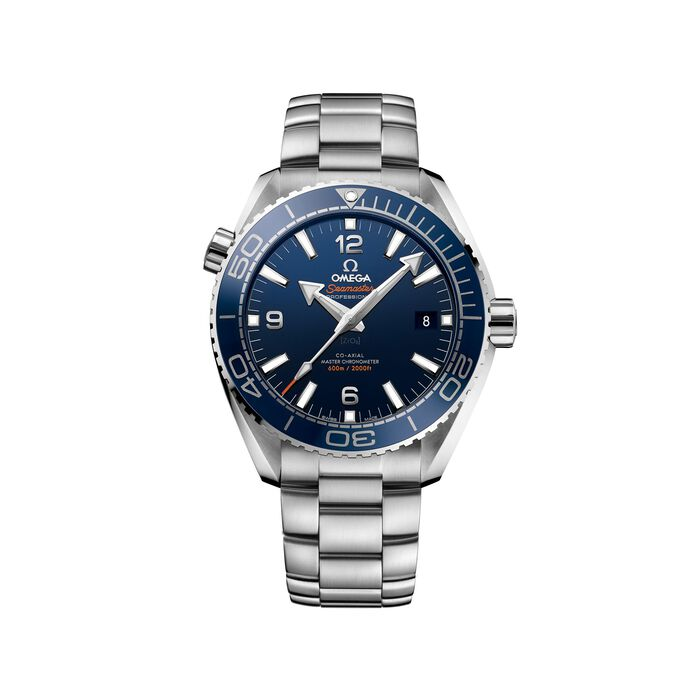 Omega Seamaster Planet Ocean Master Chronometer 43.5mm Men's Automatic Stainless Steel Watch - Blue Dial, , default