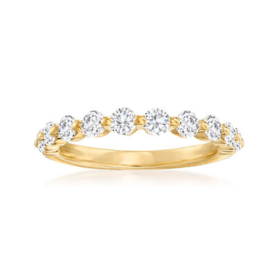 Henri Daussi .70 ct. t.w. Diamond Wedding Ring in 14kt Yellow Gold