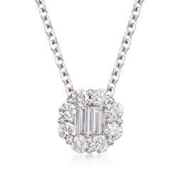 Gregg Ruth .45 ct. t.w. Diamond Circle Pendant Necklace in 18kt White Gold, , default