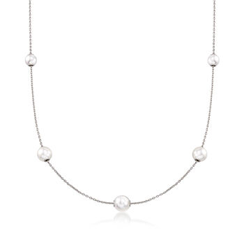 Mikimoto 7.5-5.5mm A+ Akoya Pearl Adjustable Necklace in 18-Karat White Gold