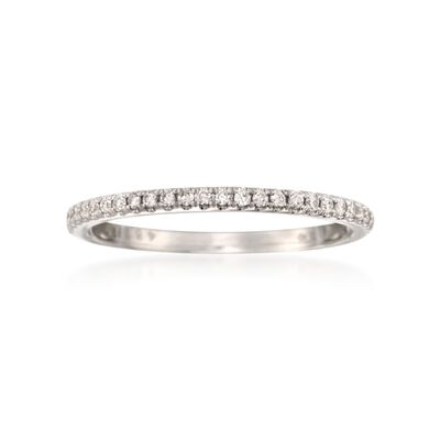 Simon G. .14 ct. t.w. Diamond Wedding Ring in 18kt White Gold, , default