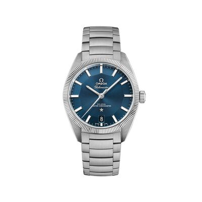 Omega Constellation Globemaster Men's 39mm Stainless Steel Watch with Blue Dial, , default
