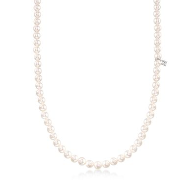 Mikimoto 6-6.5mm 'A' Akoya Pearl Necklace in 18kt White Gold