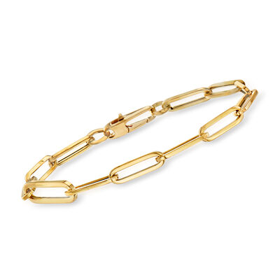 Roberto Coin 18kt Yellow Gold Thick Paper Clip Link Bracelet