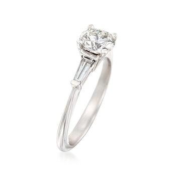 1.36 ct. t.w. Certified Diamond Engagement Ring in 14kt White Gold, , default