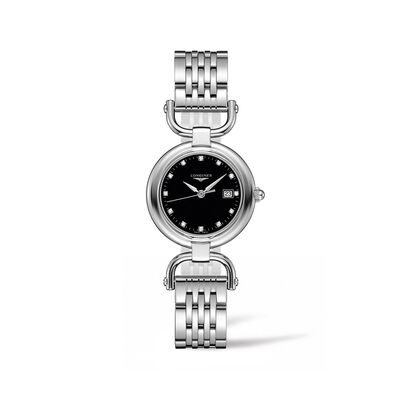 Longines Equestrian Women's 30mm Stainless Steel Watch with Diamond Accents