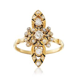 C. 1980 Vintage .55 ct. t.w. Diamond Dinner Ring in 18kt Yellow Gold, , default
