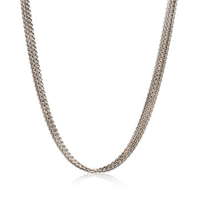 C. 1990 Vintage 14kt White Gold Five-Strand Cable Chain Necklace, , default