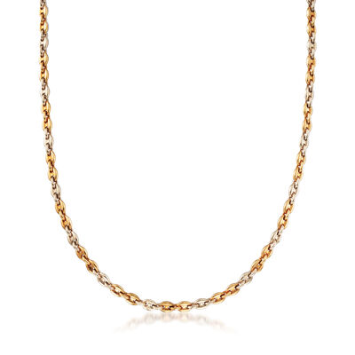 C. 1980 Vintage Cartier 18kt Yellow Gold Cable-Link Necklace