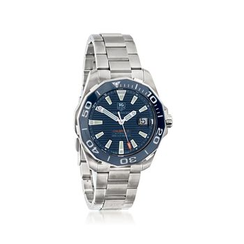 TAG Heuer Aquaracer 41mm Men's Stainless Steel Automatic Watch With Blue Dial, , default