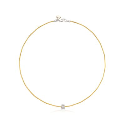 "ALOR ""Classique"" Diamond Station Yellow Cable Necklace, , default"