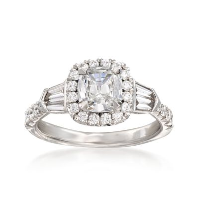 Henri Daussi 1.58 ct. t.w. Certified Diamond Engagement Ring in 18kt White Gold, , default