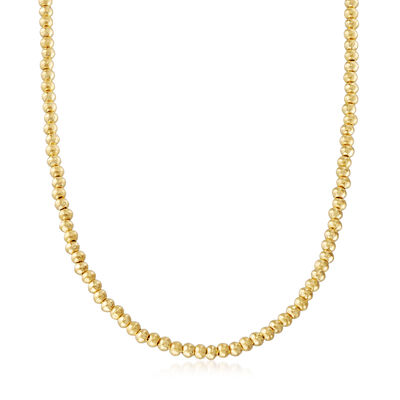 C. 1990 Vintage 22kt Yellow Gold Beaded Necklace, , default