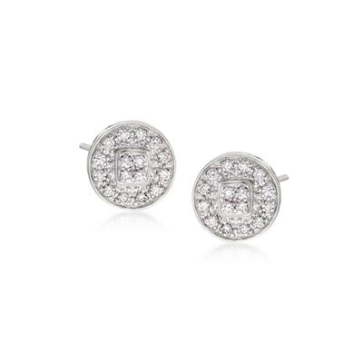 "ALOR ""Classique"" .27 ct. t.w. Diamond Stud Earrings in 14kt White Gold, , default"