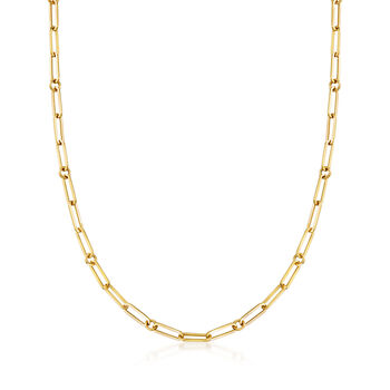 Roberto Coin 18kt Yellow Gold Paper Clip Link Necklace