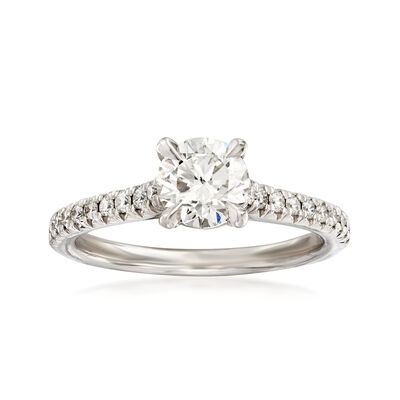 Henri Daussi 1.10 ct. t.w. Certified Diamond Engagement Ring in 18kt White Gold, , default