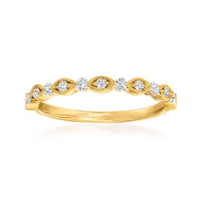 Henri Daussi .20 ct. t.w. Diamond Wedding Ring in 18kt Yellow Gold