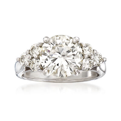 Majestic Collection 3.63 ct. t.w. Diamond Ring in 18kt White Gold, , default
